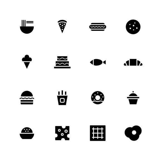 food icon - burger and chicken stock illustrations