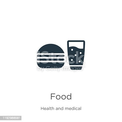 istock Food icon vector. Trendy flat food icon from health collection isolated on white background. Vector illustration can be used for web and mobile graphic design, logo, eps10 1192988581