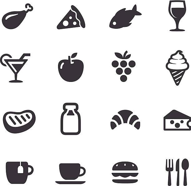 food-icons-acme series - fischglas stock-grafiken, -clipart, -cartoons und -symbole