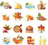 Food Icons - Colored series