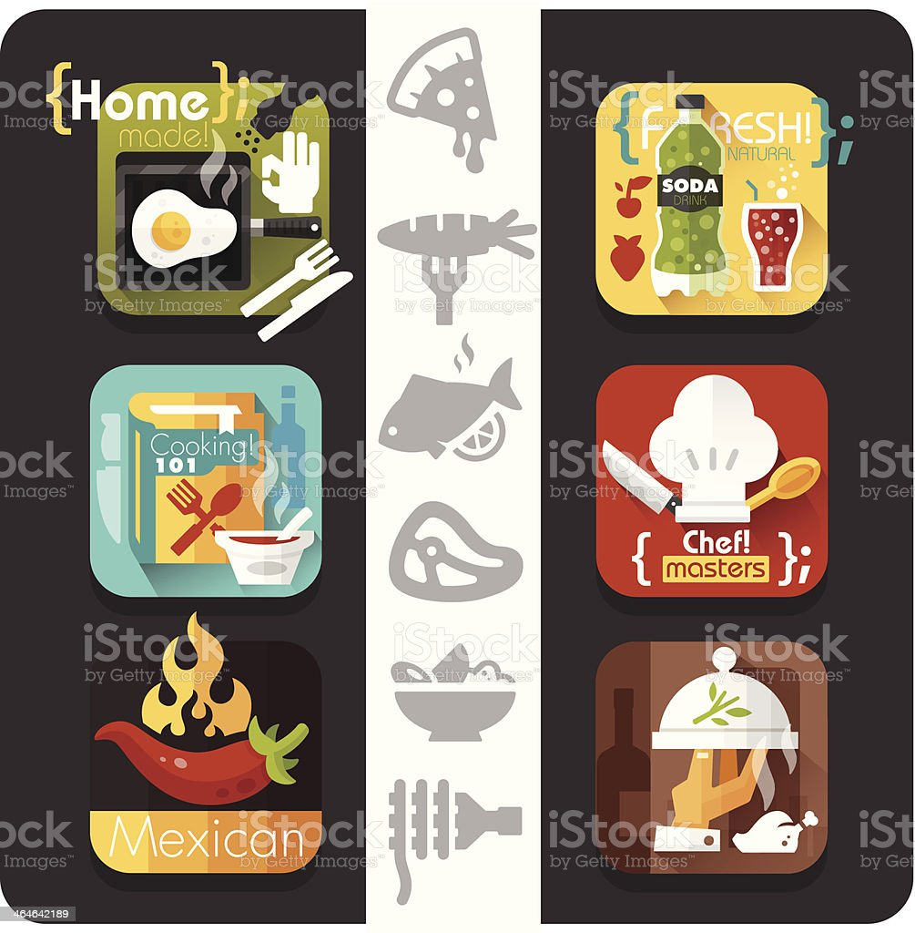 Food Icons Flat series royalty-free food icons flat series stock vector art & more images of alcohol