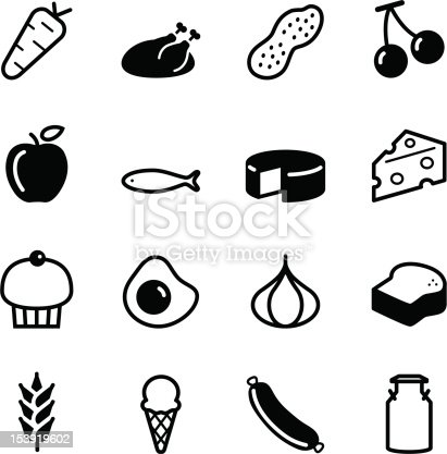 Vector file of Food Icons