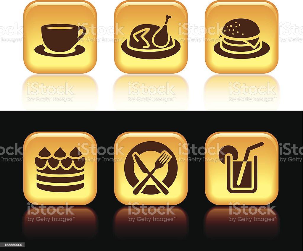 음식 아이콘 royalty-free 음식 아이콘 갈색에 대한 스톡 벡터 아트 및 기타 이미지