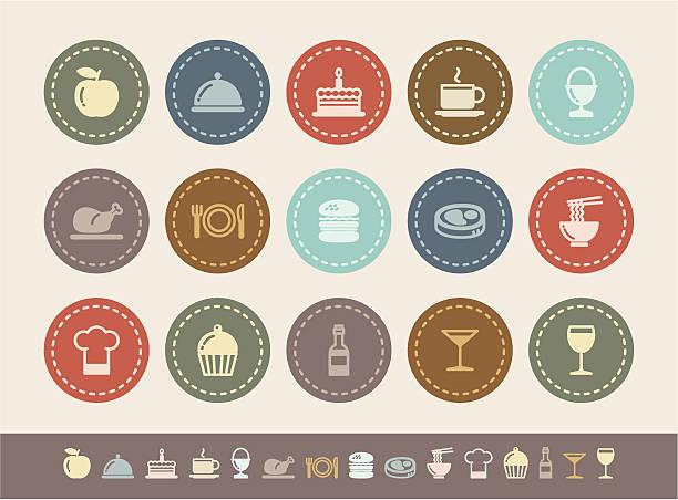 значки продуктов питания - burger and chicken stock illustrations