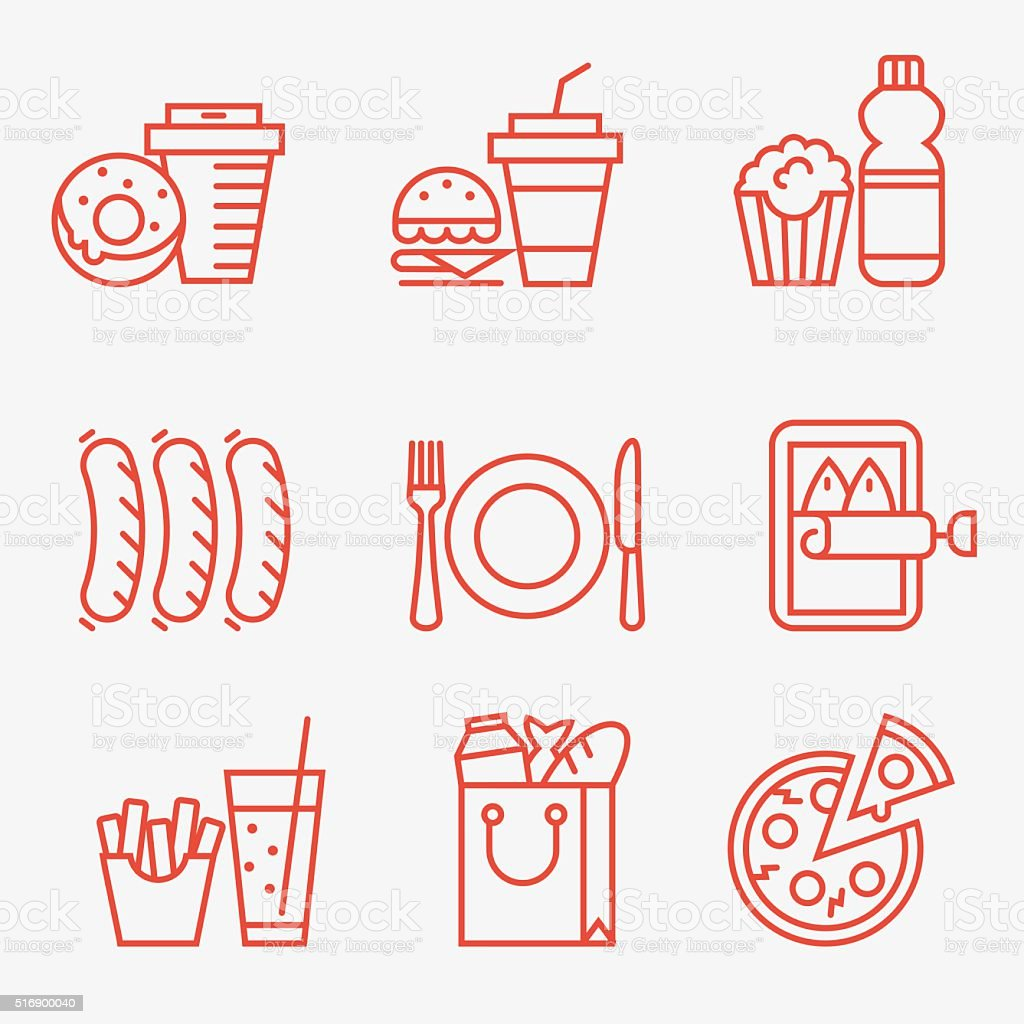 Food icons royalty-free food icons stock illustration - download image now