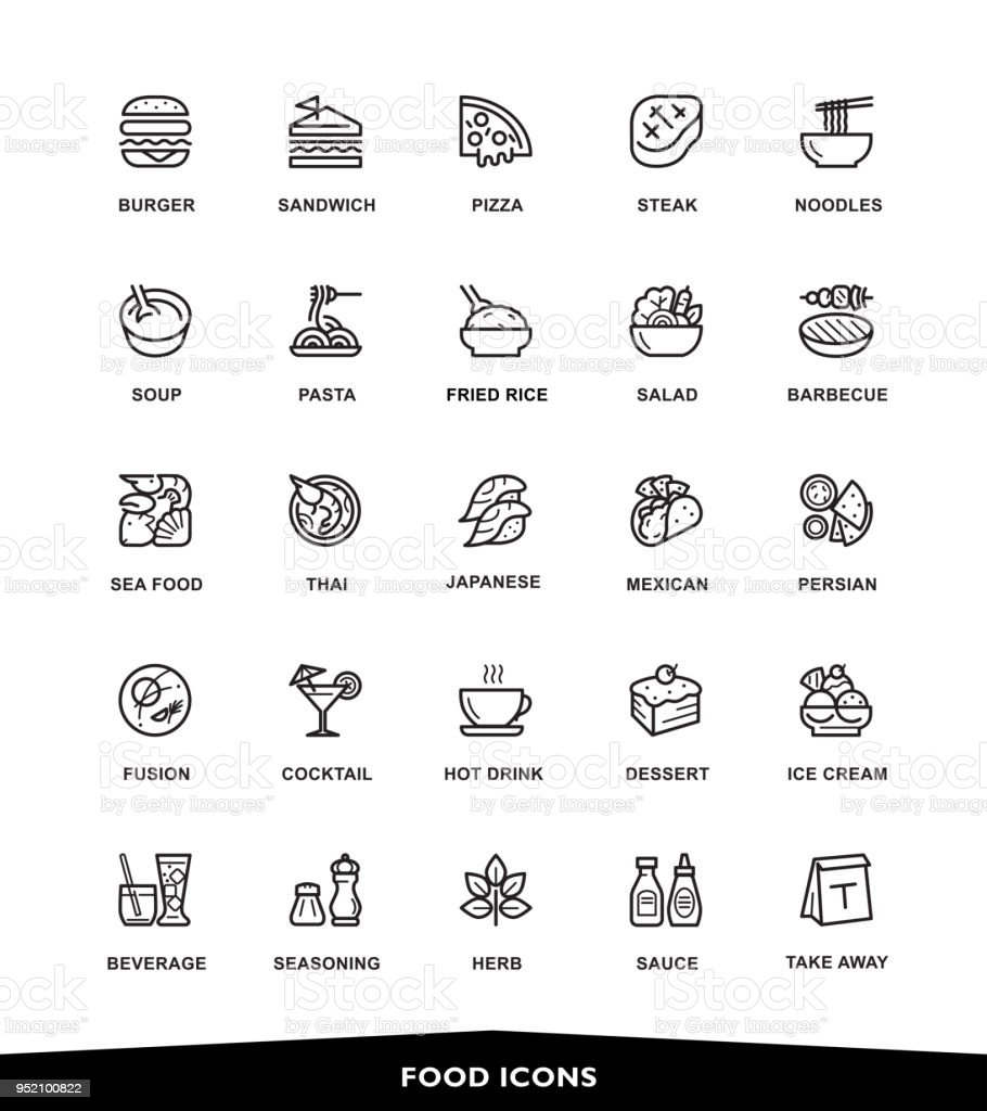 Food icons - Royalty-free Amêijoa - Marisco arte vetorial