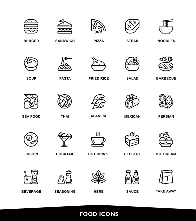 Food icons clipart