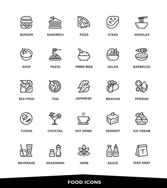 food icons - junk food stock illustrations, clip art, cartoons, & icons