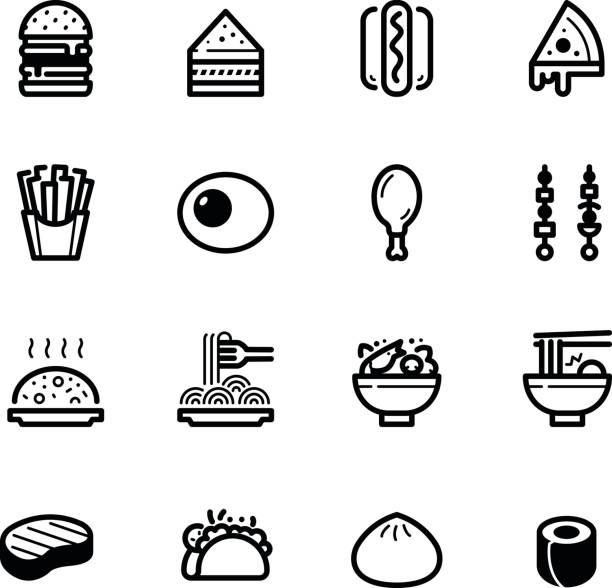 フードアイコン - ラーメン点のイラスト素材/クリップアート素材/マンガ素材/アイコン素材