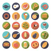 Food icons vector set.