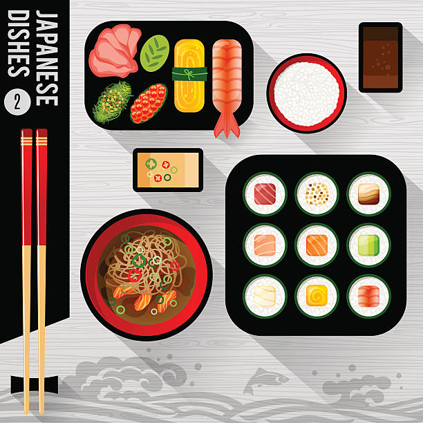 Food Illustration Japanese food - Illustration vectorielle