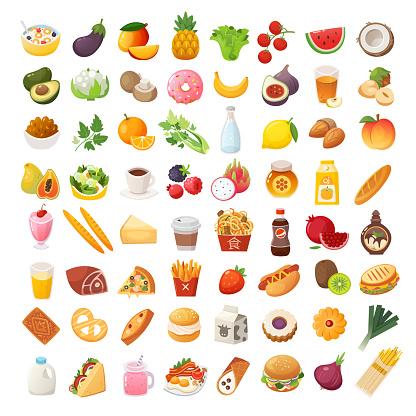 食品配料和菜肴圖示向量圖形及更多互聯網圖片