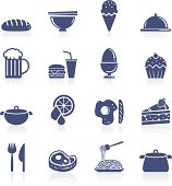 Food interface icon collection