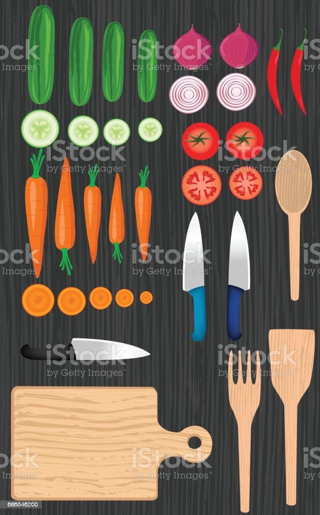 Aliments Knolling aliments knolling – cliparts vectoriels et plus d'images de aliment libre de droits
