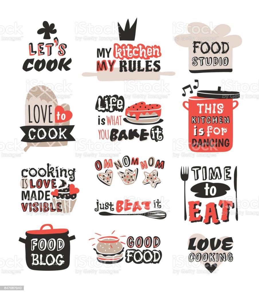 Alimentos Logotipo Restaurante Vintage Diseño Icono De Etiqueta De ...