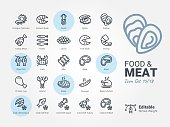 Food & Meat vector icon