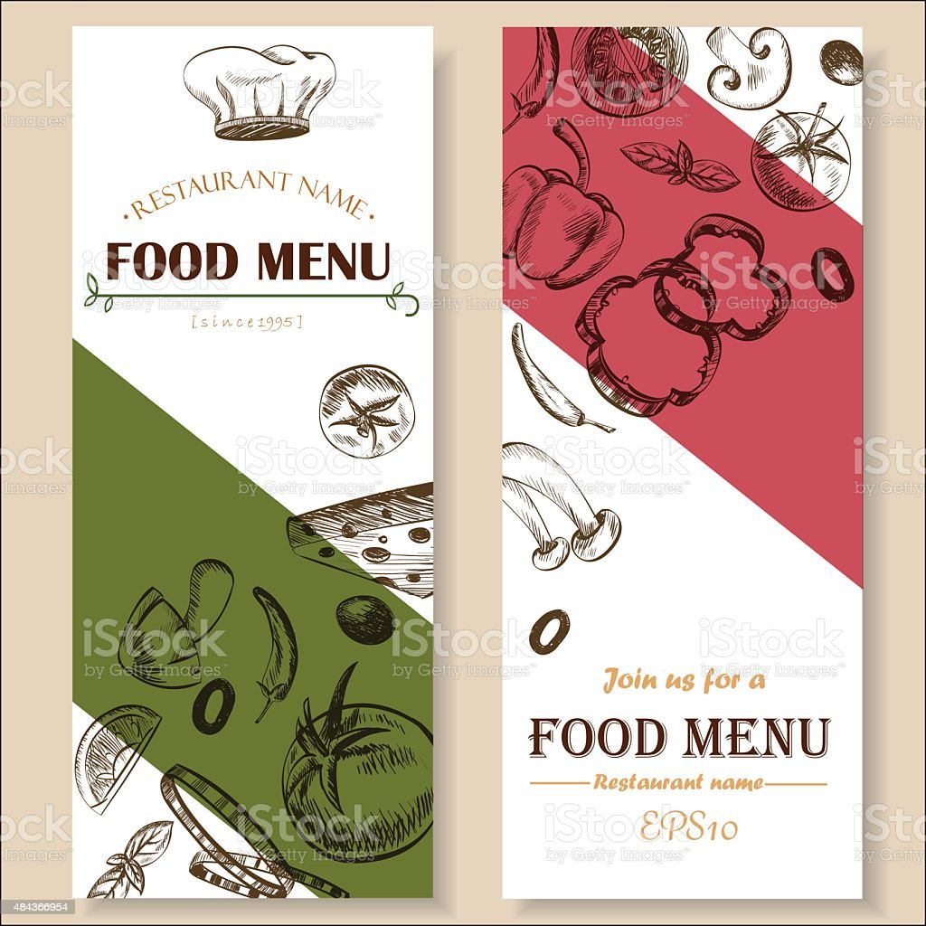 Food Menu Restaurant Cafe Brochure Drawing Template Stock Illustration Download Image Now Istock