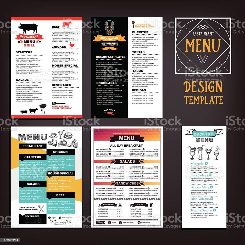 Food menu vector art illustration