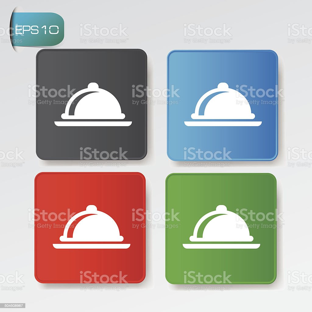 Food on buttons,vector royalty-free stock vector art