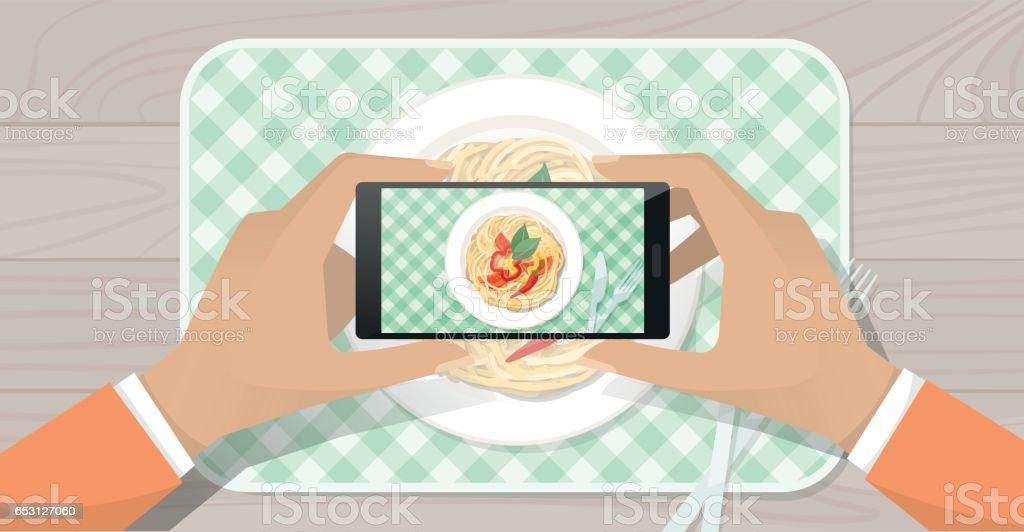 Food photography vector art illustration