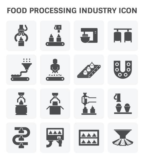 Food processing icon vector art illustration