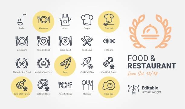 stockillustraties, clipart, cartoons en iconen met food & restaurant vector icons - gedekte tafel