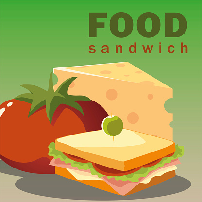 food sandwich cheese and fresh vegetable tomato
