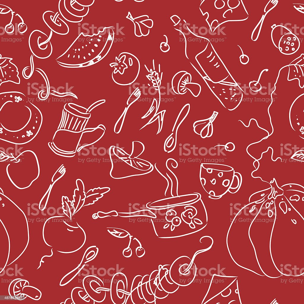 Food seamless pattern royalty-free stock vector art