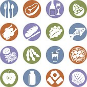 Food Service Icons - High res JPG included