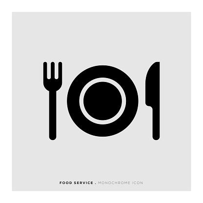 Food Service Monochrome Icon
