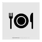 istock Food Service Monochrome Icon 1147981581