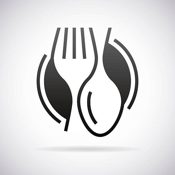 Food service vector sign vector art illustration