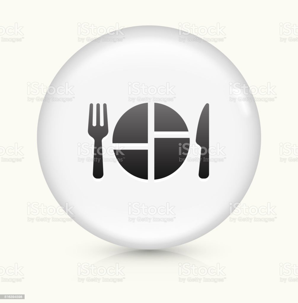 Food Serving icon on white round vector button vector art illustration