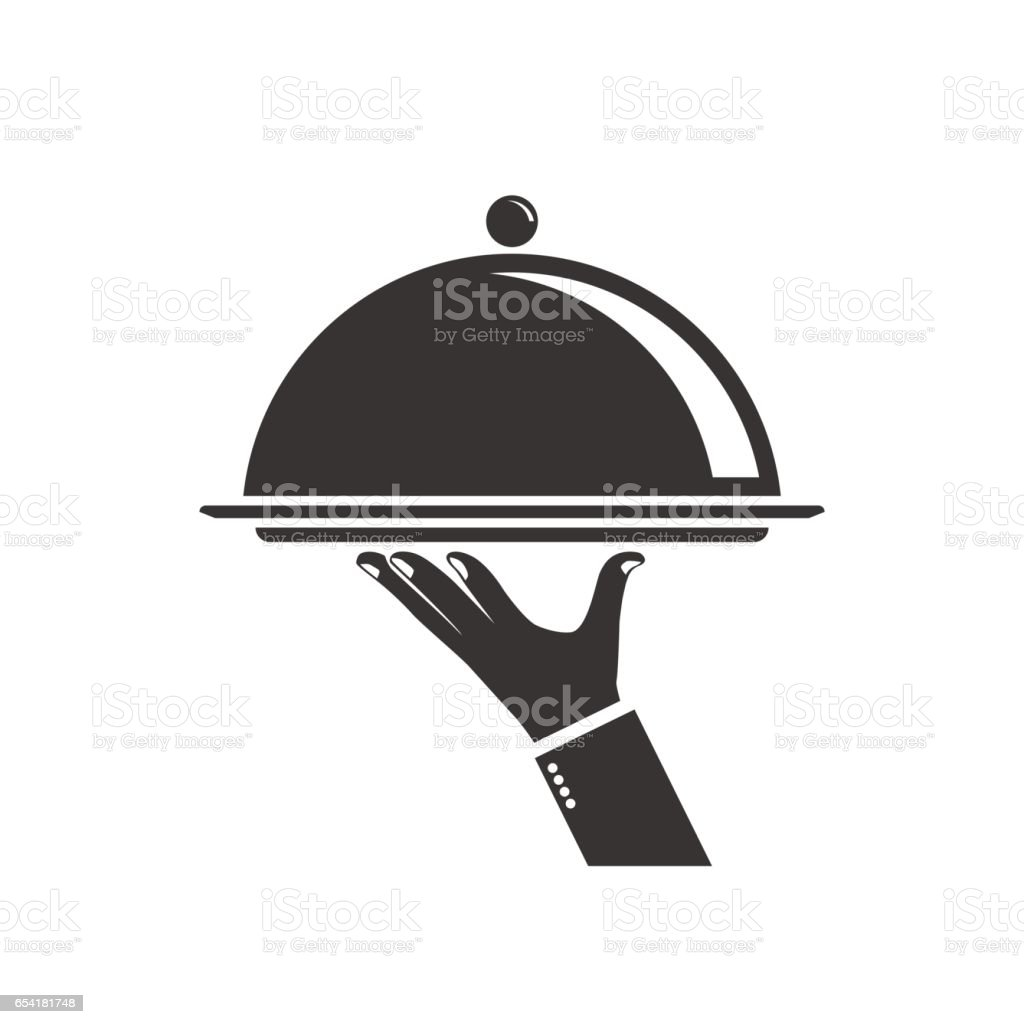 Food serving tray vector art illustration