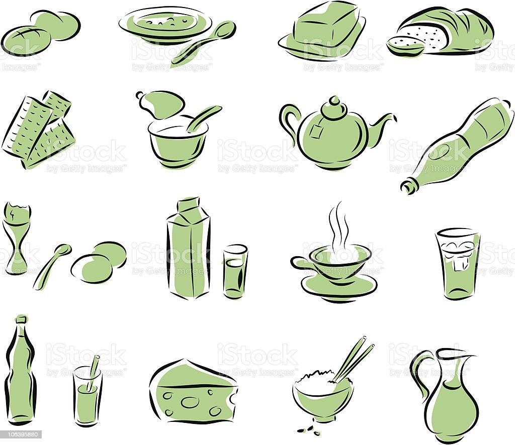 food set royalty-free stock vector art