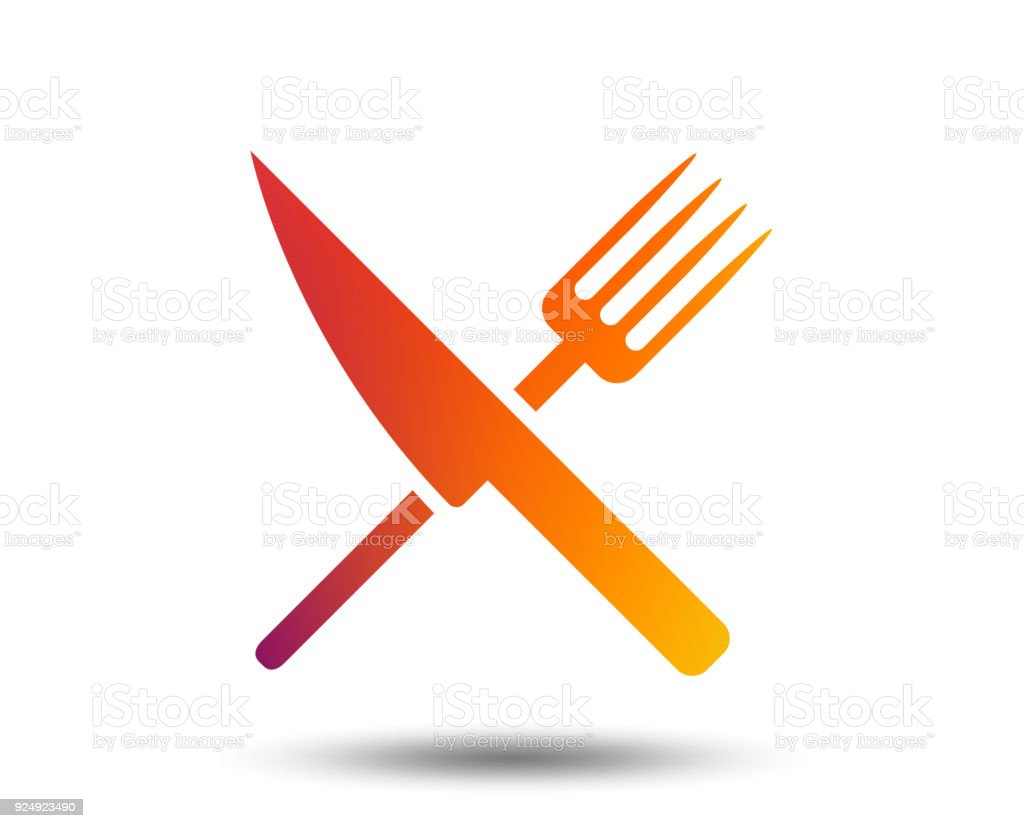 Food Sign Icon Cutlery Symbol Knife And Fork Stock Vector Art More