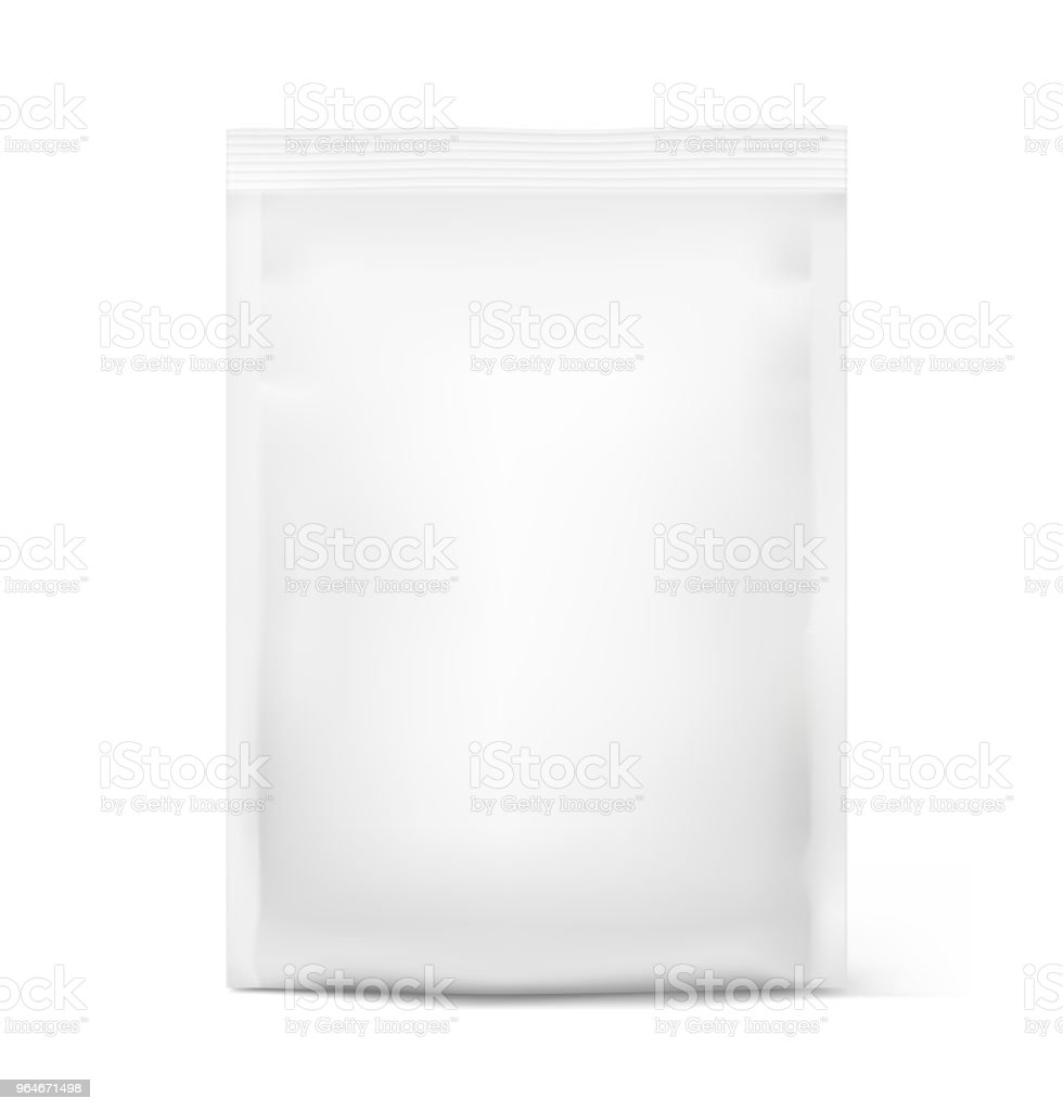 Food snack bag isolated on white background. Front view. royalty-free food snack bag isolated on white background front view stock vector art & more images of aluminum