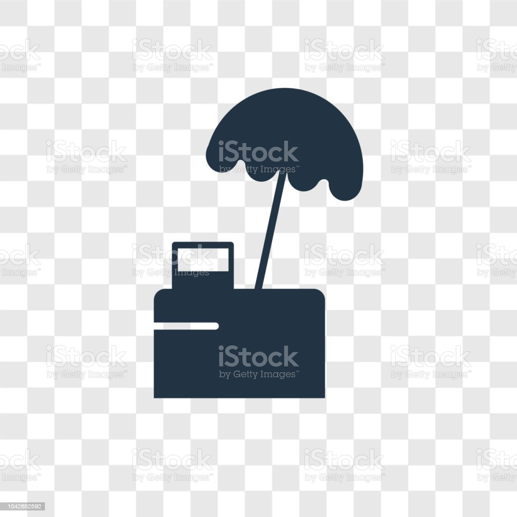 Food Stand Vector Icon Isolated On Transparent Background Food Stand