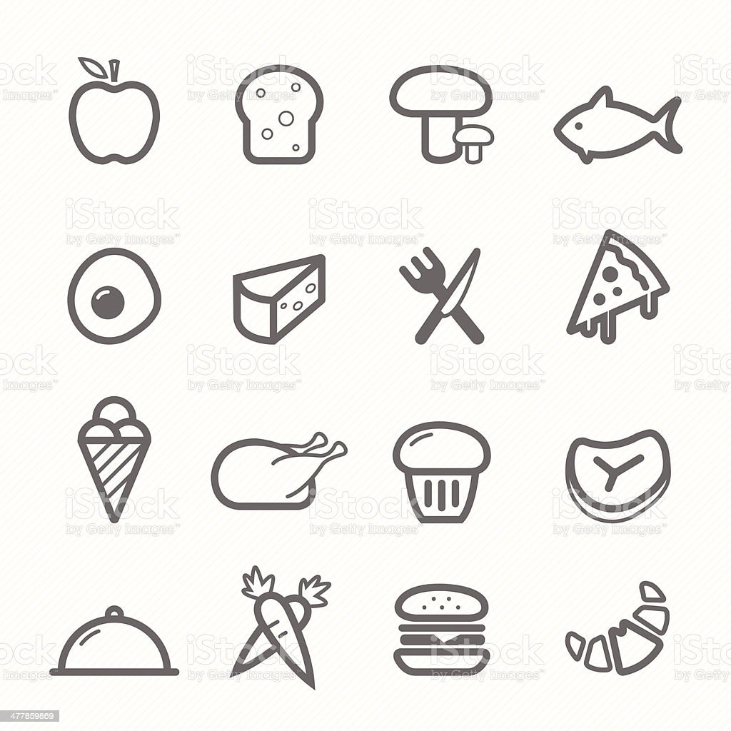 food symbol line icon set royalty-free food symbol line icon set stock vector art & more images of american culture