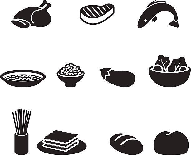 bildbanksillustrationer, clip art samt tecknat material och ikoner med food symbols - fjäderfä