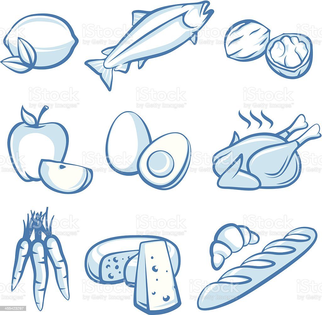 Food Symbols royalty-free food symbols stock vector art & more images of animal egg