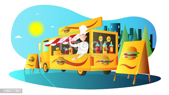 Food truck and chef