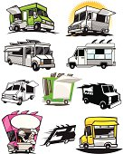 collection of food truck designs