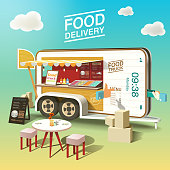 Food truck Delivery on Mobile application