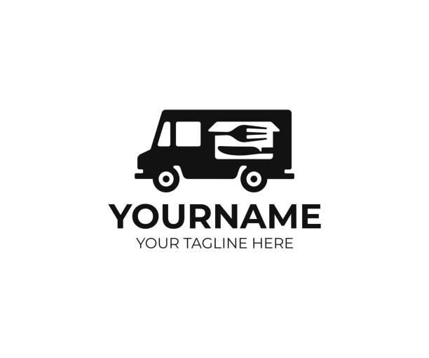 food truck design. straßenfutter wagenvektoren-design. retro food truck-design - nahrungsmittelindustrie stock-grafiken, -clipart, -cartoons und -symbole