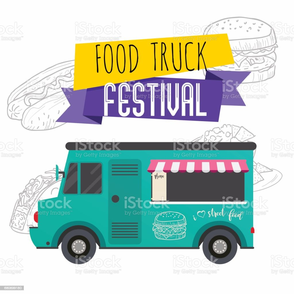 Food truck festival brochure. Flat design style modern vector illustration concept. royalty-free food truck festival brochure flat design style modern vector illustration concept stock vector art & more images of backgrounds