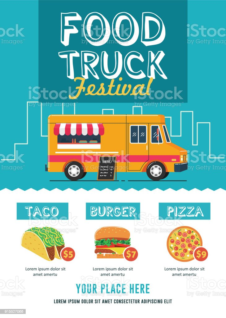 food truck festival flyer template stock vector art  u0026 more