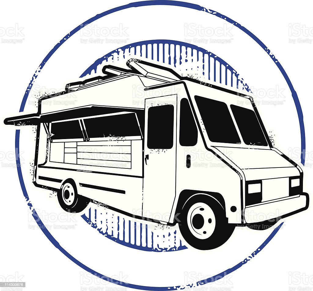 Food Truck Festival Stamp royalty-free stock vector art