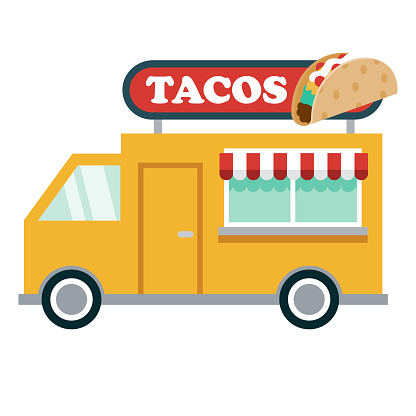 Food Truck Icon on Transparent Background