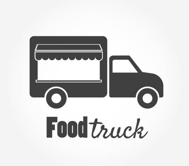 Food truck icon simple vector illustration vector art illustration